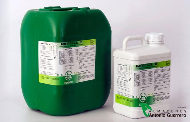 Mixfol-B, aplicación foliar y fertirrigación - Almacenes Antonio Guerrero