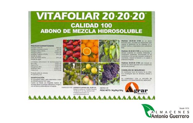 Vitafoliar 20-20-20 - Almacenes Antonio Guerrero