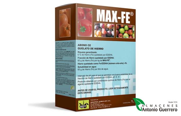 Max-Fe Corrector de deficiencias de hierro-Almacenes Antonio Guerrero
