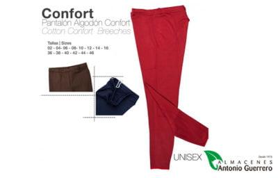 Pantalón Algodón Confort Unisex Color Rojo. - Almacenes Antonio Guerrero