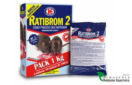 Cebo fresco Ratibrom 2 - Almacenes Antonio Guerrero - Cebo fresco - Mata ratas y ratones