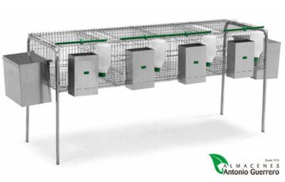 Jaula para conejos 2 nidos 2 departamentos - Almacenes Antonio Guerrero