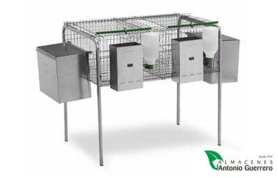 Jaula para conejos 2 nidos. Modelo Júcar - Almacenes Antonio Guerrero