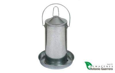 Bebedero de chapa para aves - Almacenes Antonio Guerrero